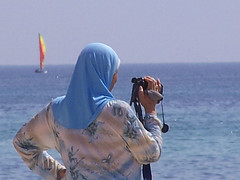 Tunisia (CarlosCoutinho) Tags: africa blue sea sky woman film beach water boat video mediterranean tunisia tape maghreb soe camcorder abigfave