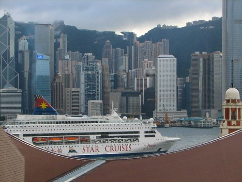 Hong Kong and Cruise Ship from Salisbury Hotel