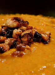 Pumpkin soup with roasted walnuts