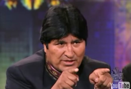 Evo Morales entrevista The Daily show