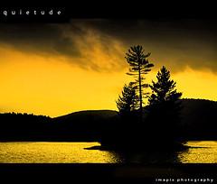 Q u i e t u d e (Imapix) Tags: lake silhouette island photo bravo photographie dusk naturesfinest quietude magicdonkey abigfave superaplus aplusphoto superbmasterpiece thegoldendreams imapixphotography gatanbourquephotography