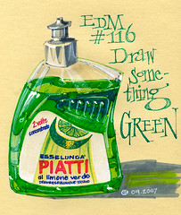 EDM #116 Draw something green (freekhand) Tags: dish wash edm artbookklub