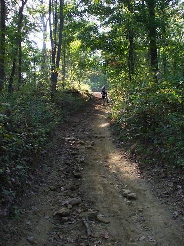 Brutal horse trail climb