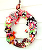 electric rag wreath (heatherknitz) Tags: wreath walldecor wallhanging feltflowers buttonflowers buttonwreath ragwreath fabricwreath decorativewreath doorwreaths fabricragwreath raghearth 10inchwreath