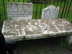 Graves for two Margarets (drowned) and William Johnstone(Hanged)