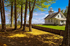 Old Mission Lighthouse, Traverse City, MI (Micha67) Tags: park old trees lighthouse building mi d50 michael nikon state lakemichigan micha mission traversecity schaefer ptf flickrtravelaward lighthouseinoldmissionstatepark