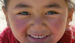 What Caused Her Smile? (Stanley Zimny (Thank You for 16 Million views)) Tags: china travel macro reflection me girl smile face myself eyes asia child teeth tibet i
