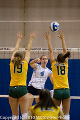 NCAA Volleyball (n8xd) Tags: girls college sports female ball women university action michigan womens volleyball ncaa northern volley midland northwood collegiate 2010 vollyball pallavolo voleibol plfoli nmu glvc  siatkwka  volleyboll  gliac d3s  microwavephoto volleyeuse  nmufocus   eitpheil