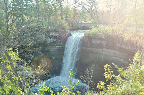 Minnehaha Falls in Afternoon