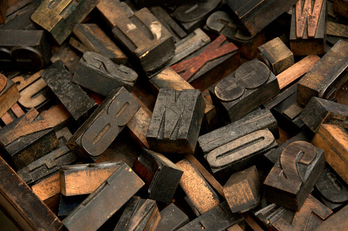 original letterpress printing letters 1920s notting hill portobello market london