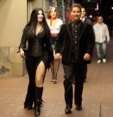 Morticia and Gomez Addams (San Diego Shooter) Tags: costumes girls portrait halloween girl costume sandiego cosplay streetphotography halloweencostumes adamsfamily downtownsandiego streetphotogaphy costumeideas sexyhalloweencostumes sandiegostreetphotography gaslampquartersandiego funnyhalloweencostumes sandiegohalloween halloween2010 halloweencostumes2010 sandiegohalloweencostumes2010 morticiaandgomezaddams