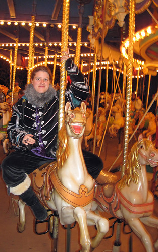 Charlotte on the carrousel