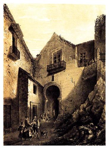 018-Malaga puerta de la Alcazaba-Recuerdos y bellezas de España-Reino de Granada