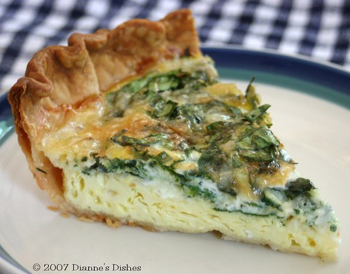 Spinach and Chive Quiche