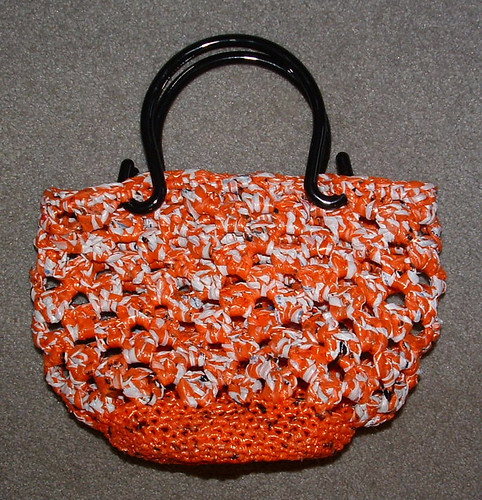 Orange Crush Plarn Purse