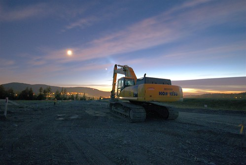 Backhoe Sunset