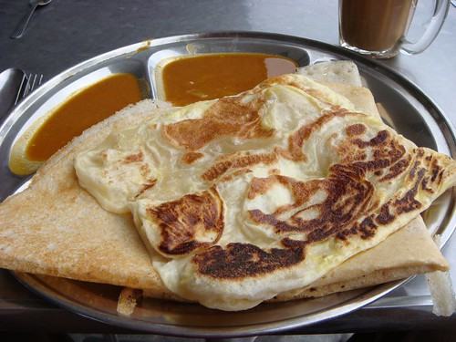 Roti Cenai and coffee for breakfast. Hmmm...