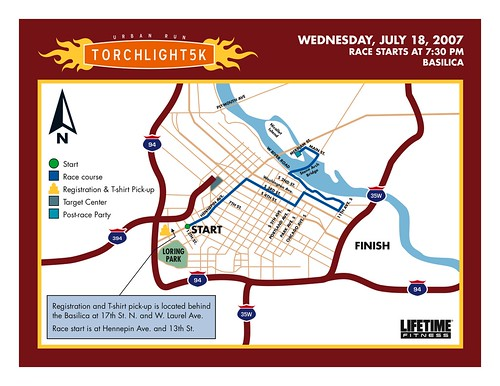 Torchlight 5K Route