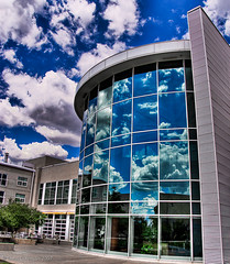 United States Olympic Training Center Dining Hall on a puff cloudy day (iceman9294) Tags: bravo coloradosprings chriscoleman usoc magicdonkey mywinners abigfave unitedstatesolympictrainingcenter iceman9294 3xphdrhandheld