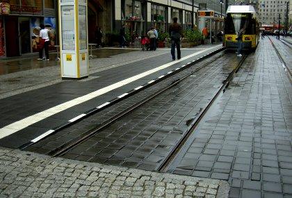 Gleisende Tram Berlin