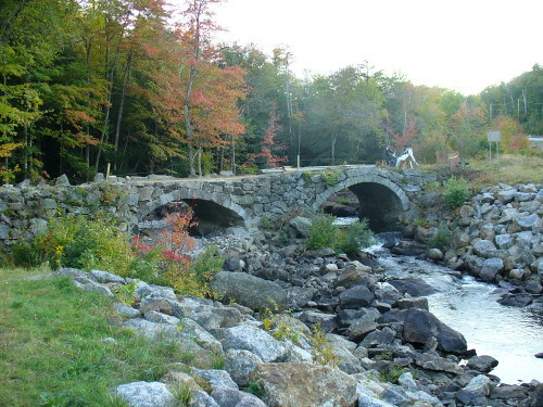 Repaired stone bridge