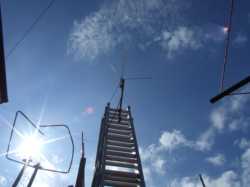 Antennas in the sun in Annan