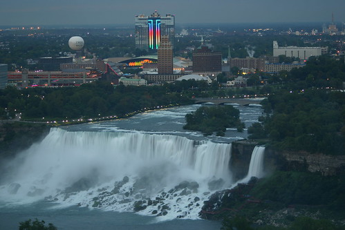 Niagara Falls at Dusk of the American Side
