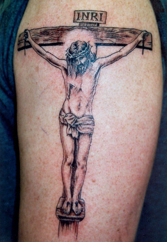 tribal cross tattoo designs. Religious Cross Tattoos