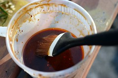 brush, hoisin barbecue sauce