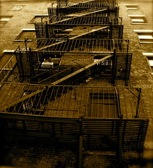 Zigzag (The Wandering Angel) Tags: urban newyork streets metal architecture stairs buildings poetry objects thoughts views everyday mundane
