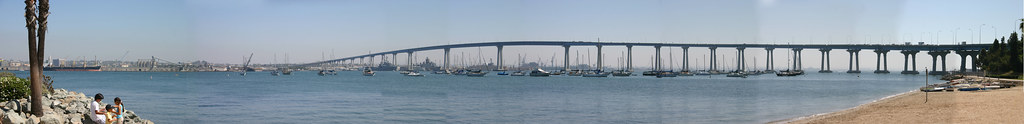 The San Diego-Coronado Bridge Panoramic