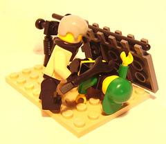 My Sig Fig Beating A Halo Fanboi2 (Skinny Pete Deux) Tags: lego fig halo sig minifigure fanboi