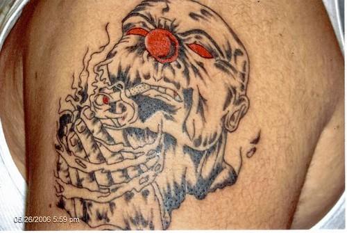 Tattoo By Bear (280) by Tattoo By Bear. evil clown prayer hands