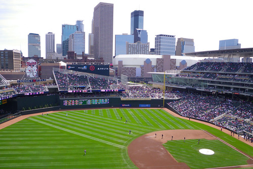 Minneapolis Skyline Target Field
