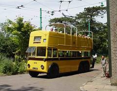 BOURNEMOUTH 202 ALJ986 CARLTON COLVILLE 100705 (DavidsTransportPix) Tags: carlton preserved bournemouth sunbeam trolleybus parkroyal eatm colville ms2 opentopper alj986