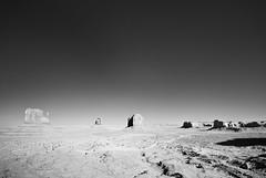 Monument Valley - Infrared Panorama (C. Waeber) Tags: arizona southwest landscape blackwhite infrared navajo monumentvalley
