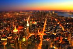 New York City USA - South Manhatten Tiltshift by Night (Daniel Mennerich) Tags: canon dslr eos hdr hdri spiegelreflexkamera slr tiltshift tilt shift