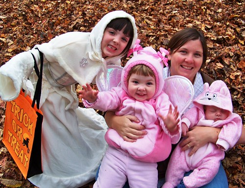 Me and my girls, dressed for Halloween
