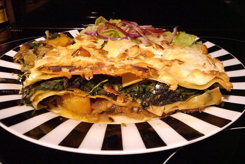 Pumpkin, Pesto and Spinach Lasagna - The Inky Kitchen