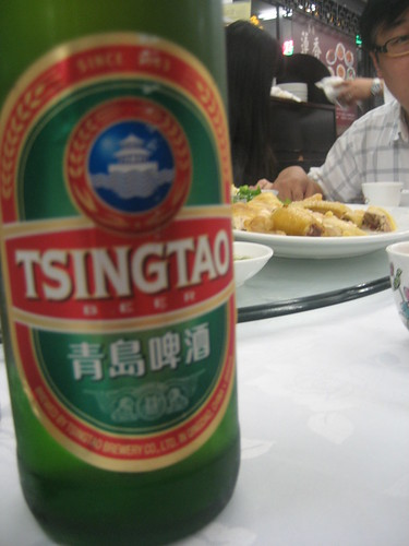 I had some Tsingtao beer with j's uncle. Pretty good brew.