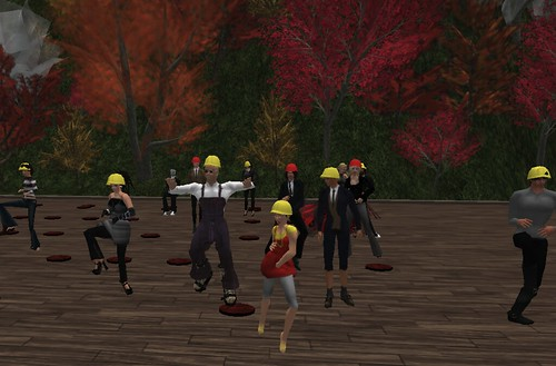 Line Dancing in the Virtual Mine sim