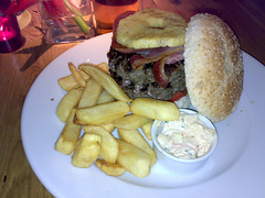 12oz Hawaiian burger at Revolution bar, Edinburgh