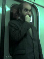 Grigori Perelman en el metro de San Petersburgo-4
