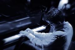 Brad in blue (Belltown) Tags: blue piano jazz duotone bradmehldau