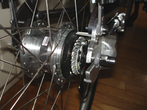 Rear bevel gear attached to Nexus hub