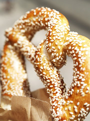 Sesame fetish. (Sebastian Mary) Tags: food bread sesame twist snack pretzel baked