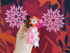 floral meter pin - by ☂☁ miriam ☁☂