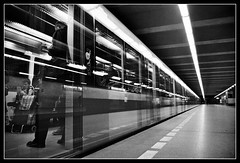 Ghost train (FotoBob#) Tags: longexposure bw subway fuji prague metro superia praha supershot pentaxmz5n abigfave aplusphoto superbmasterpiece halvnndra