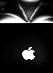 Pearls, Basque, PowerBook (KennethMoyle) Tags: bw apple powerbook macintosh pearls basque lightroom 50mmf18 myeverydaylife 12powerbook