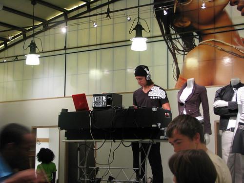 AX store had a DJ!!!
